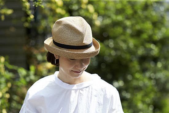 【今季終了】mature ha./マチュアーハ/BOXED HAT(つば幅7cm)/麦わら帽子の商品写真
