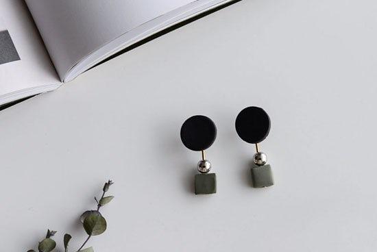 piii accessory/ピィ アクセサリー/アポロ/2WAYピアス(ブラック)の商品写真