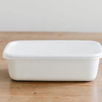 野田琺瑯/ホワイトシリーズ/レクタングル深型(L)の商品写真