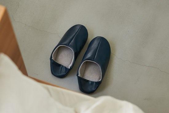 「パイル素材が心地よい」2WAYバブーシュ/ネイビー(M)/KURASHI&Trips PUBLISHINGの商品写真