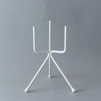 植木鉢スタンド/フォーク・ホワイト(径11cm/高さ25cm)の商品写真