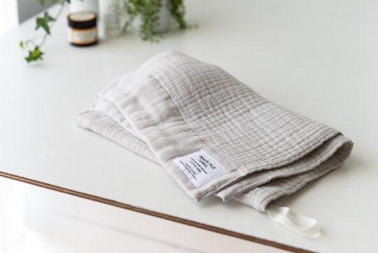 【次回8月末入荷予定】INNER PILE TOWEL / フェイスタオル / アイボリーの商品写真