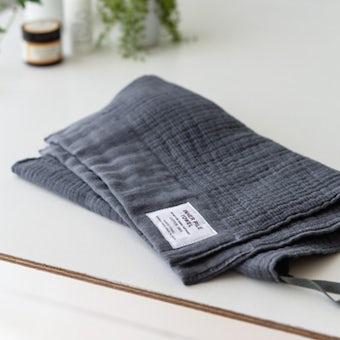 INNER PILE TOWEL / フェイスタオル / チャコールグレーの商品写真