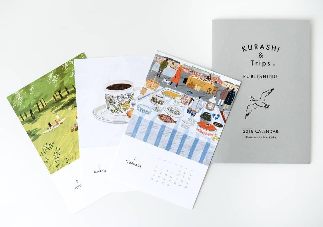 【取り扱い終了】「北欧の景色と暮らし」カレンダー2018/KURASHI&Trips PUBLISHINGの商品写真