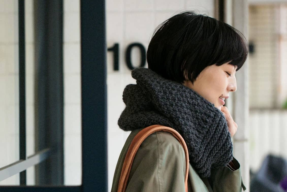 【次回10月末ごろ入荷予定】m.m Orchestra/スヌード(チャコールグレー)の商品写真