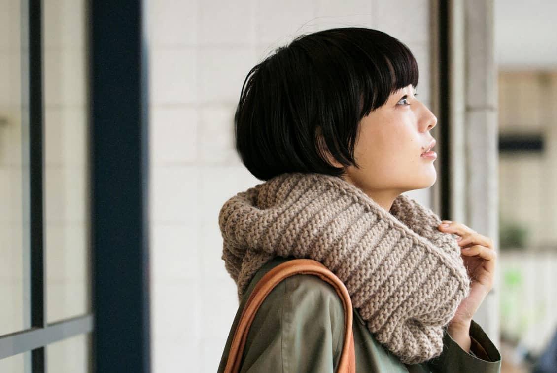 【次回10月末ごろ入荷予定】m.m Orchestra/スヌード(ベージュ)の商品写真