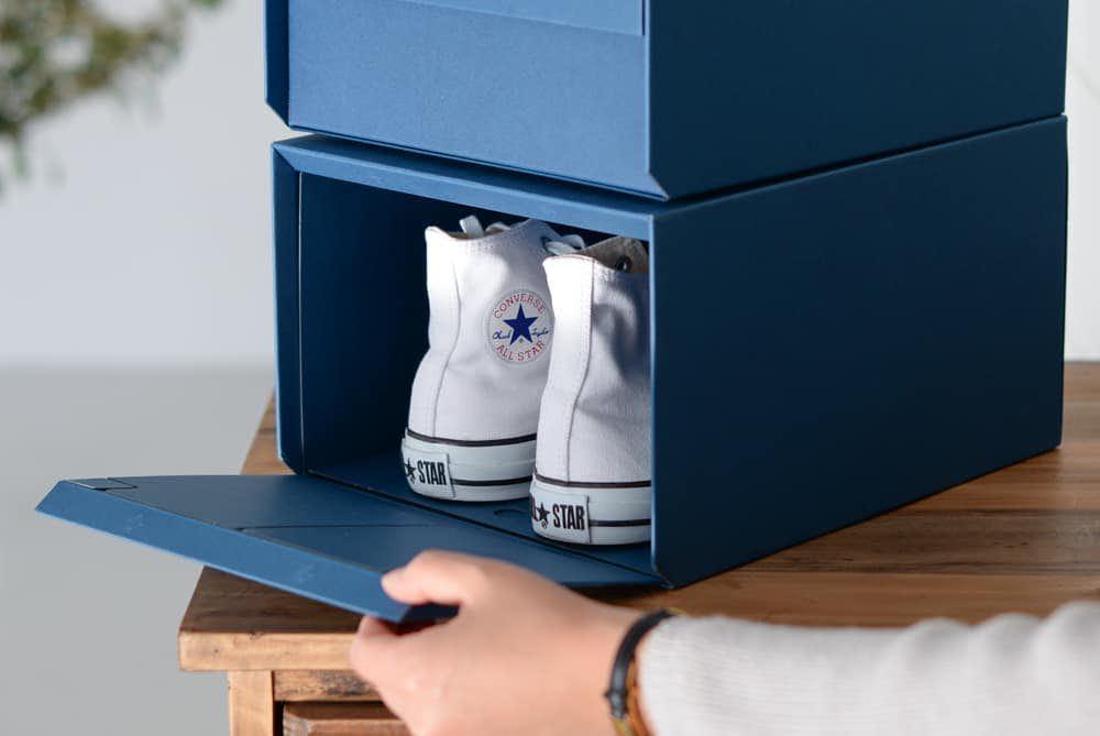 「お気に入りの玄関、つくろう」重ねたまま取り出せるシューズボックス(Lサイズ)/KURASHI&Trips PUBLISHINGの商品写真