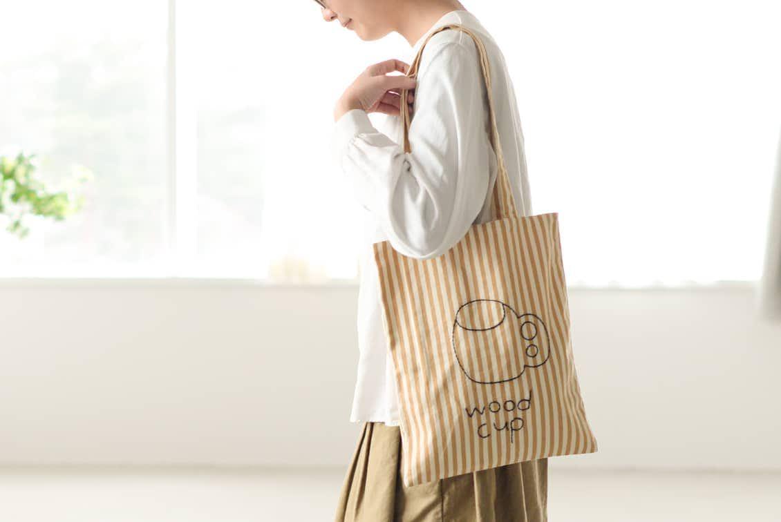 【在庫限り取り扱い終了】当店限定!pot and tea/ポットアンドティー/トートバッグ(ククサ)の商品写真