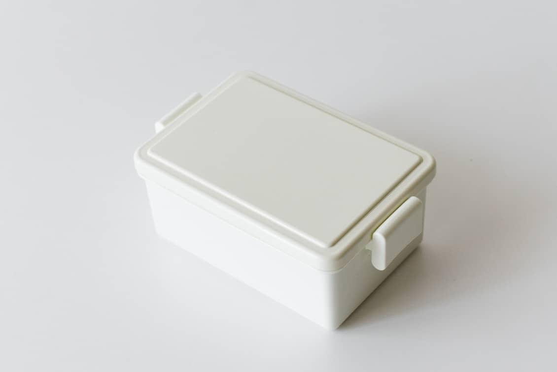 フタが保冷剤になるランチボックス/400ml/ホワイトの商品写真