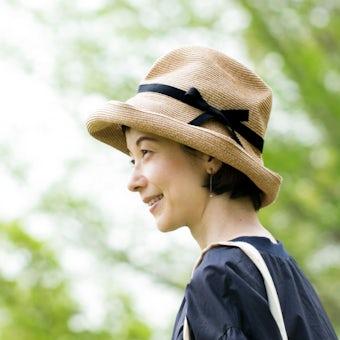 mature ha. / マチュアーハ / BOXED HAT(つば幅11cm)/ ペーパーハットの商品写真