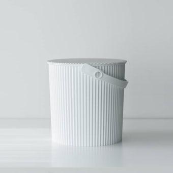 フタ付きバケツ/オムニウッティ/ホワイト(10L)の商品写真