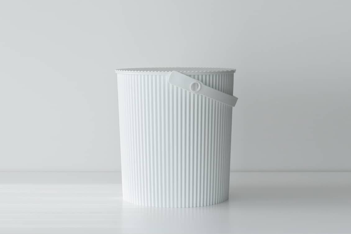フタ付きバケツ/オムニウッティ/ホワイト(20L)の商品写真