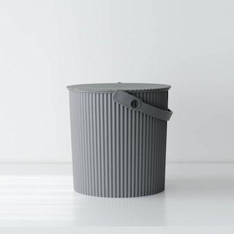 フタ付きバケツ/オムニウッティ/グレー(10L)の商品写真