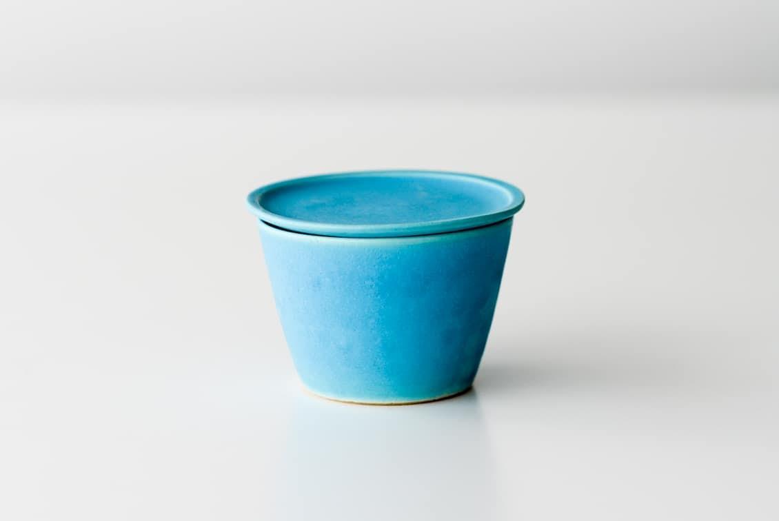 【次回入荷未定】飯高幸作/小皿付きマグ/FUTACK/トルコブルーの商品写真