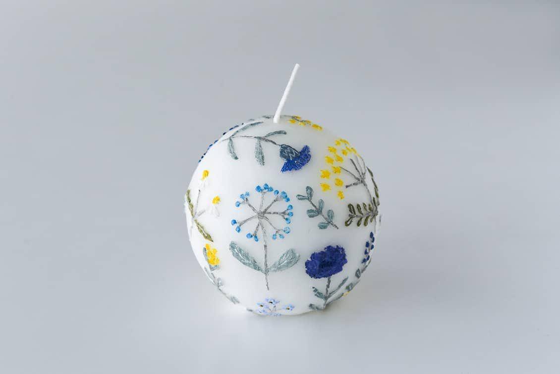 【次回入荷未定】nuri candle/庭に咲く花/アロマキャンドル(球体)の商品写真