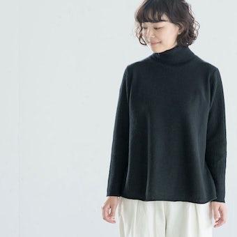 【次回10月頃入荷予定】grin/グリン/タートルネックニット(ブラック)の商品写真