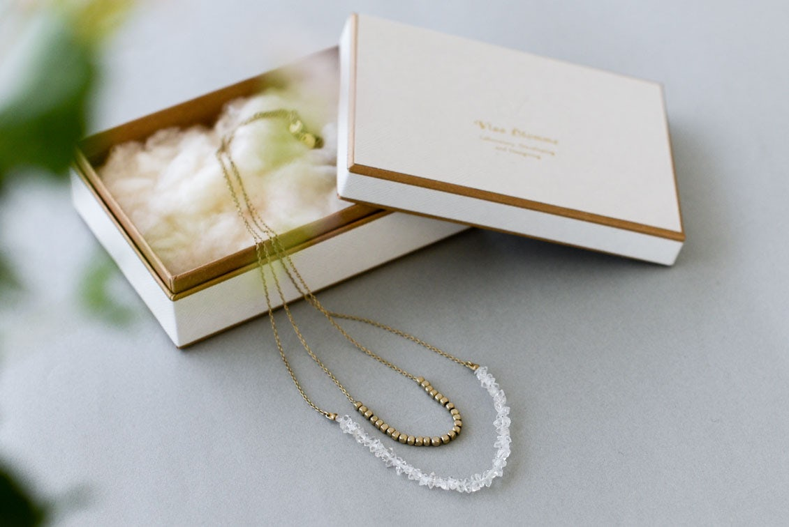 【次回10月入荷予定】Vlas Blomme/ヴラスブラム/ハーキマーダイヤモンド 2連ネックレスの商品写真