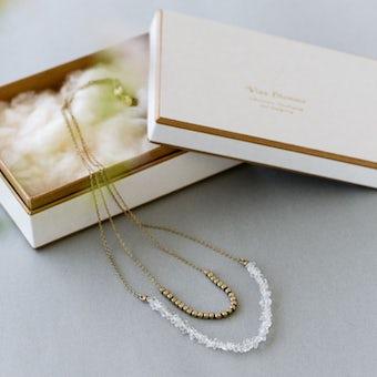 Vlas Blomme/ヴラスブラム/ハーキマーダイヤモンド 2連ネックレスの商品写真