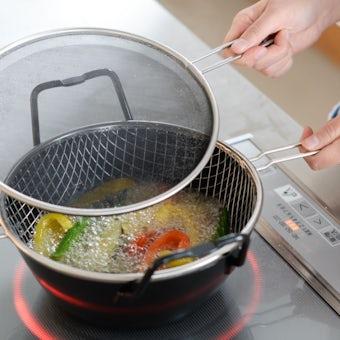 【次回4月上旬入荷予定】la base/ラバーゼ/IH対応・鉄揚げ鍋セット(22cm)の商品写真