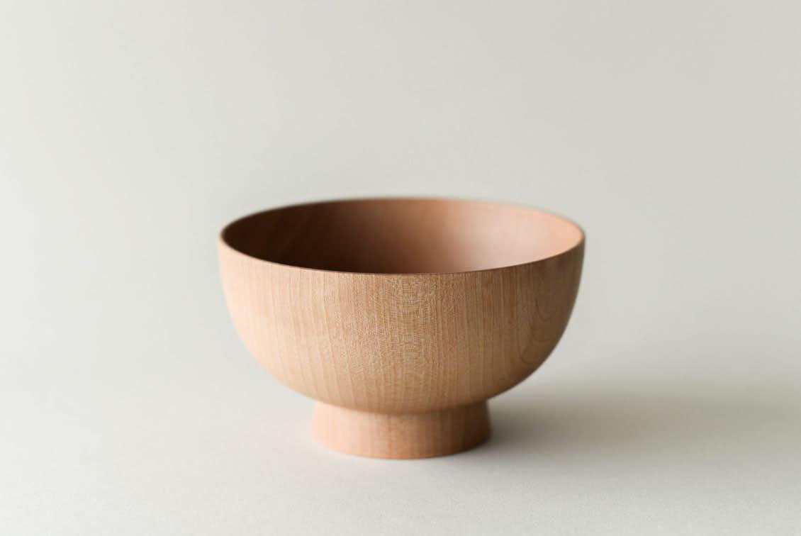 暮らしになじむ、天然木のお椀(白木)/KURASHI&Trips PUBLISHINGの商品写真