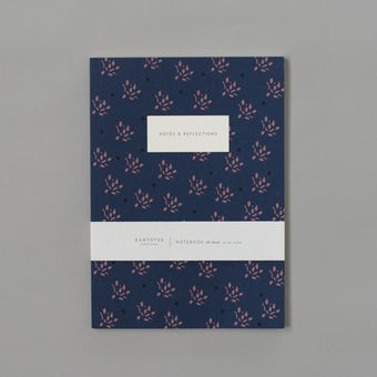 KARTOTEK/A5無地ノート/Floral(ネイビー)の商品写真
