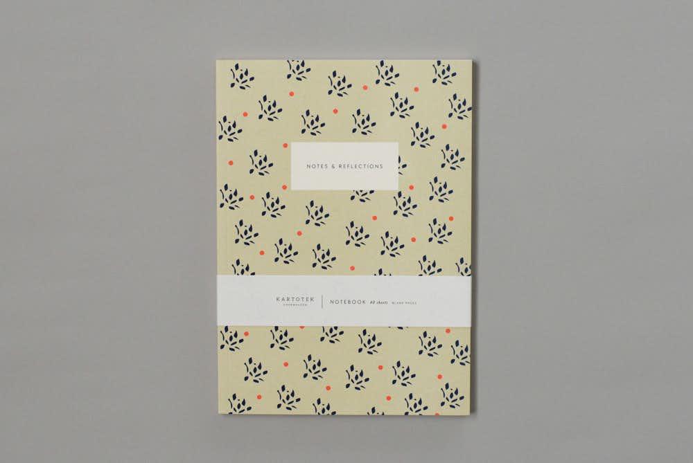 KARTOTEK/A5無地ノート/Floral(サンド)の商品写真