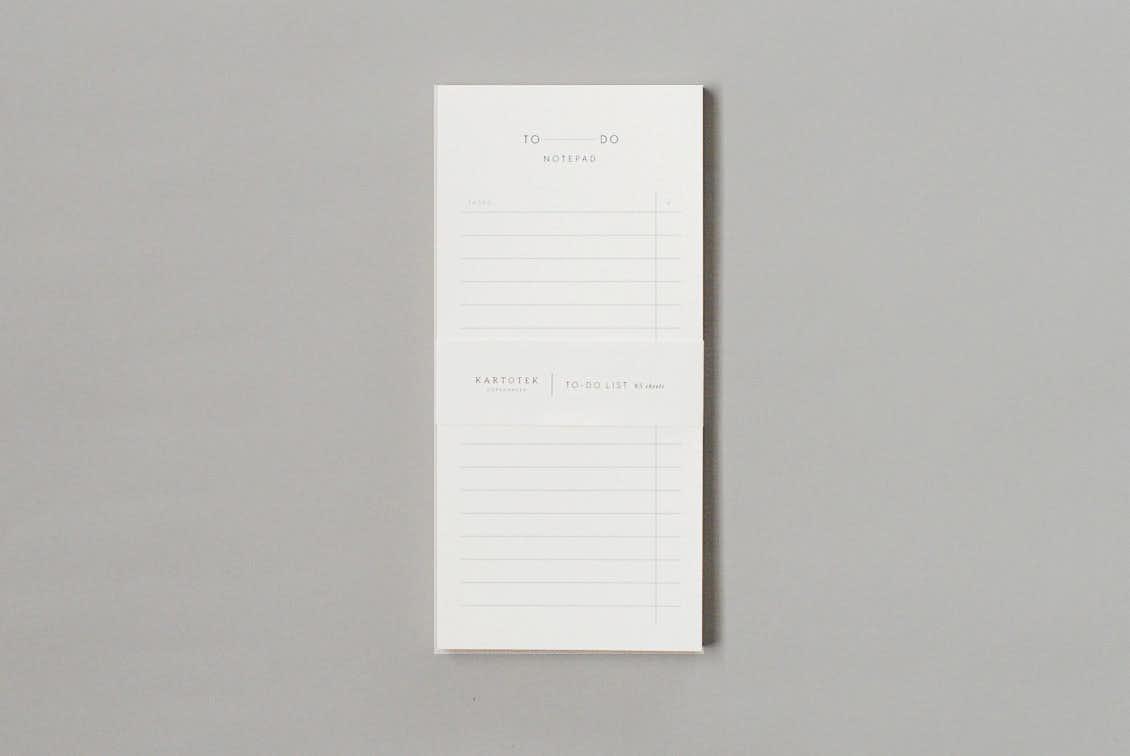 KARTOTEK/TO DOノートパッドの商品写真