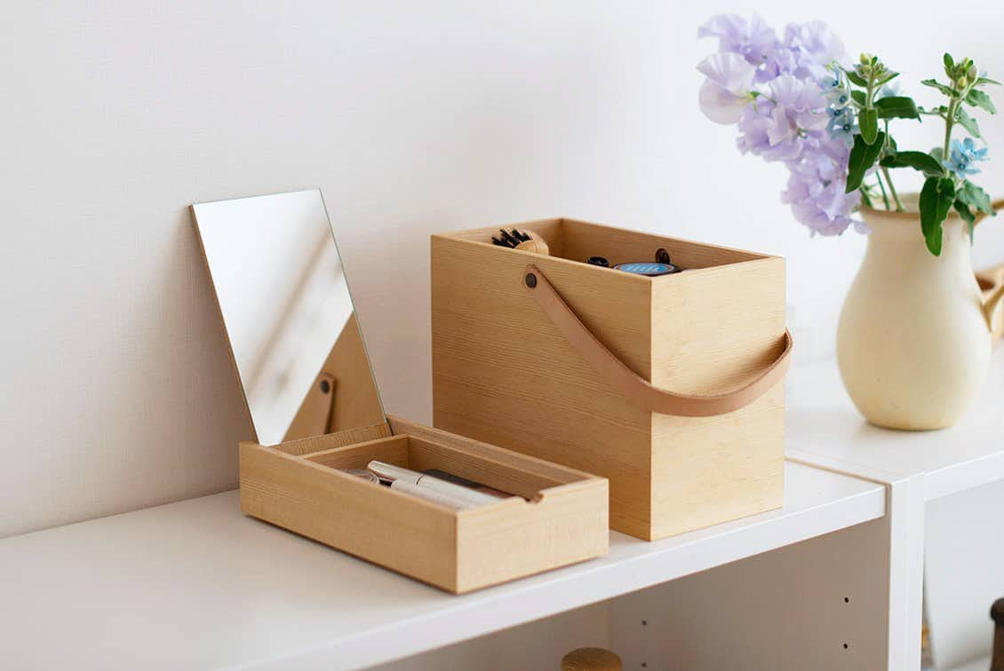 【次回入荷未定】「私らしい一日のはじまりに」道具も気持ちも整うメイクボックス/KURASHI&Trips PUBLISHINGの商品写真