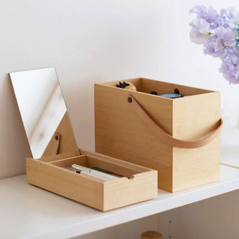 「私らしい一日のはじまりに」道具も気持ちも整うメイクボックスの商品写真
