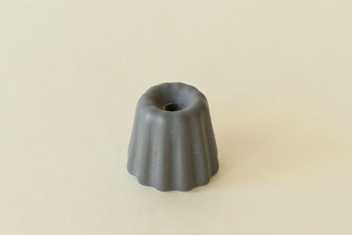 OVO Things/カヌレ型のキャンドルホルダー(マットグレー)の商品写真