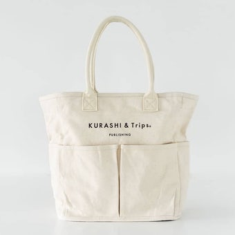 【次回入荷未定】キャンバストート / レギュラーサイズ(生成り)/ VegieBAG×KURASHI&Trips PUBLISHINGの商品写真