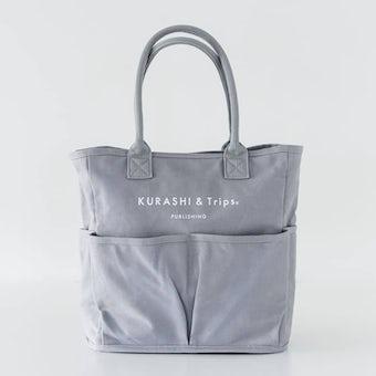 キャンバストート / レギュラーサイズ(グレー)/ VegieBAG×KURASHI&Trips PUBLISHINGの商品写真
