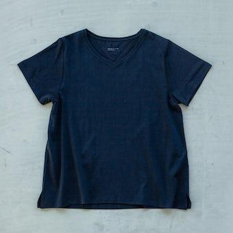 【今季終了】「大人に似合うワケがある」素肌も心もよろこぶTシャツ/Vネック(ブラック)の商品写真