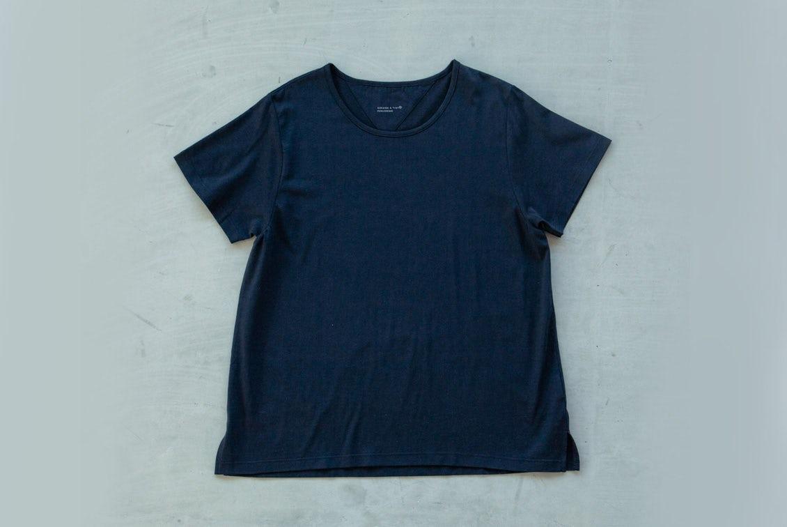 【今季終了】「大人に似合うワケがある」素肌も心もよろこぶTシャツ/Uネック(ブラック)の商品写真
