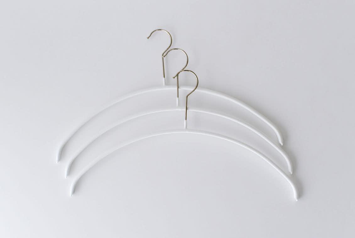 MAWAハンガー/エコノミック/40cm幅/3本セット(ホワイト)の商品写真