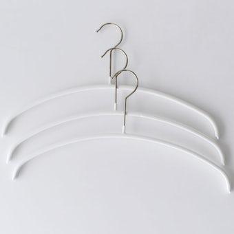 MAWAハンガー/エコノミック/36cm幅/3本セット(ホワイト)の商品写真
