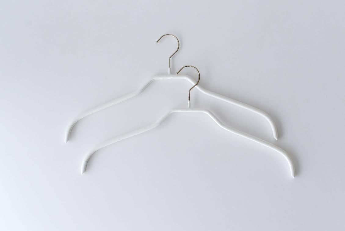 MAWAハンガー/シルエット/41cm幅/2本セット(ホワイト)の商品写真