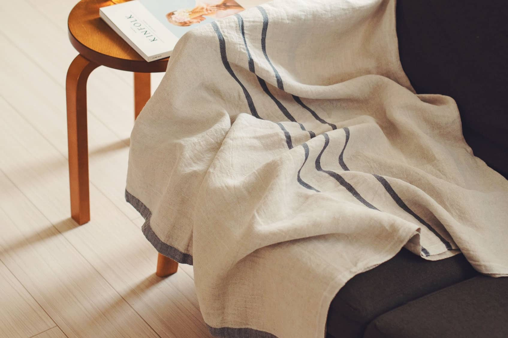 【今季終了】LAPUAN KANKURIT/ラプアン・カンクリ/USVA/マルチユースタオル (W95×H180) グレーの商品写真