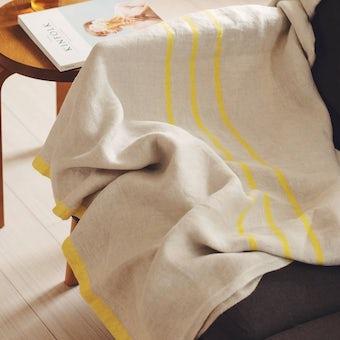【今季終了】LAPUAN KANKURIT/ラプアン・カンクリ/USVA/マルチユースタオル (W95×H180) イエローの商品写真