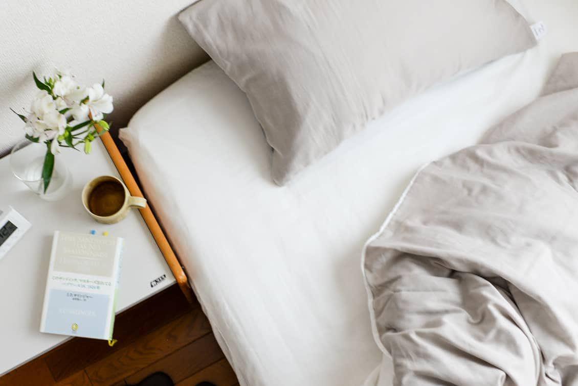 ボックスシーツ / セミダブル(ホワイト)/ さっとつけられる布団カバーシリーズの商品写真