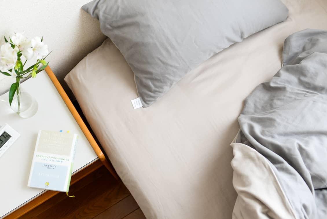【次回9月末入荷予定】ボックスシーツ / セミダブル(ベージュ)/ さっとつけられる布団カバーシリーズの商品写真