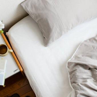 ボックスシーツ / ダブル(ホワイト)/ さっとつけられる布団カバーシリーズの商品写真