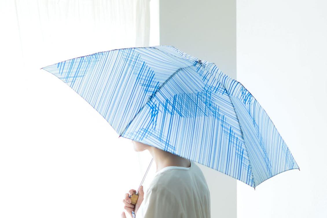 【次回9月入荷予定】折りたたみ傘 / 晴雨兼用 / サトウアサミ×KURASHI&Trips PUBLISHING(Flow)の商品写真