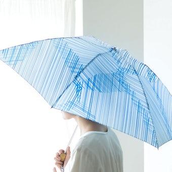 【取り扱い終了】折りたたみ傘 / 晴雨兼用 / サトウアサミ×KURASHI&Trips PUBLISHING(Flow)の商品写真