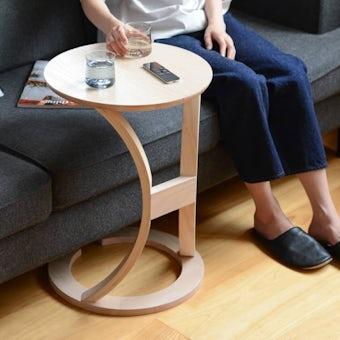 木のサイドテーブル(ナチュラル)の商品写真
