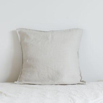 fog linen work / リネンのクッションカバー / ペールグレーの商品写真