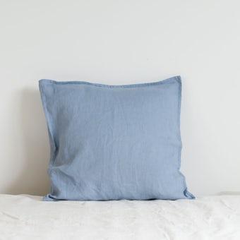 【次回入荷未定】fog linen work / リネンのクッションカバー / ライトブルーの商品写真