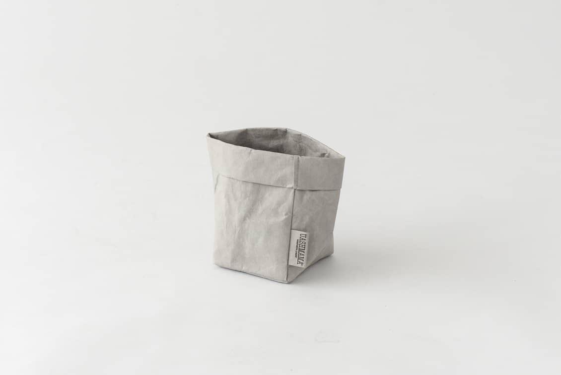 UASHMAMA / ペーパー収納バッグ / ライトグレー(S)の商品写真