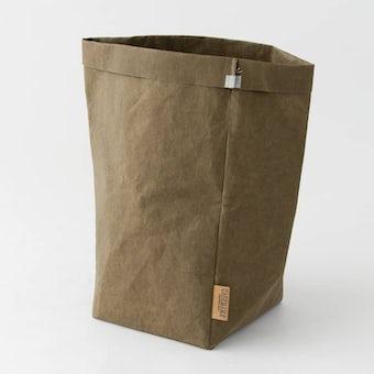 【次回入荷未定】UASHMAMA / ペーパー収納バッグ / オリーブ(L)の商品写真