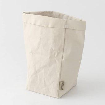【次回入荷未定】UASHMAMA / ペーパー収納バッグ / オフホワイト(L)の商品写真